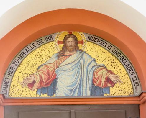 Trinitatiskirche Ernstthal Eingangsportal
